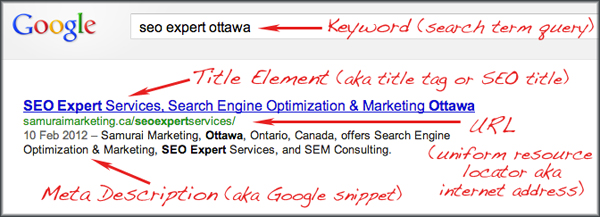 The Anatomy of a Search Engine Result